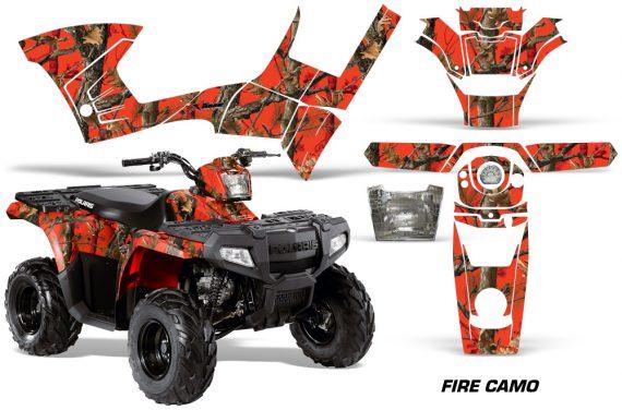 Polaris Sportsman 90 AMR Graphic Kit Decal Firecamo 570x376 - Polaris Sportsman 90 110 2007-2016 Graphics