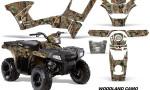 Polaris Sportsman 90 AMR Graphic Kit Decal Woodland Camo 150x90 - Polaris Sportsman 90 110 2007-2016 Graphics