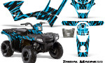 Polaris Sportsman 90 CreatorX Graphics Kit Tribal Madness BlueIce 150x90 - Polaris Sportsman 90 110 2007-2016 Graphics