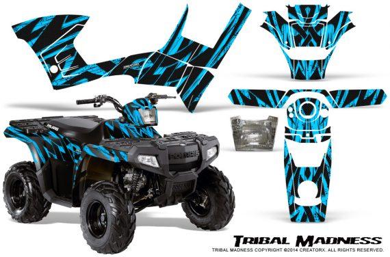 Polaris Sportsman 90 CreatorX Graphics Kit Tribal Madness BlueIce 570x376 - Polaris Sportsman 90 110 2007-2016 Graphics