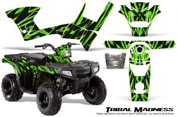 Polaris-Sportsman-90-CreatorX-Graphics-Kit-Tribal-Madness-Green