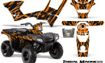 Polaris Sportsman 90 CreatorX Graphics Kit Tribal Madness Orange 150x90 - Polaris Sportsman 90 110 2007-2016 Graphics