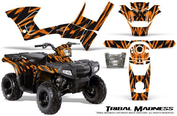 Polaris Sportsman 90 CreatorX Graphics Kit Tribal Madness Orange 570x376 - Polaris Sportsman 90 110 2007-2016 Graphics