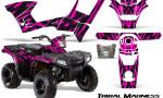 Polaris Sportsman 90 CreatorX Graphics Kit Tribal Madness Pink 150x90 - Polaris Sportsman 90 110 2007-2016 Graphics