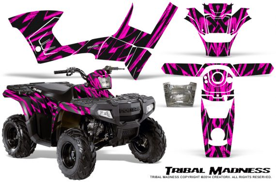 Polaris Sportsman 90 CreatorX Graphics Kit Tribal Madness Pink 570x376 - Polaris Sportsman 90 110 2007-2016 Graphics