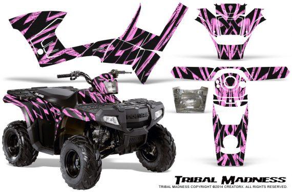 Polaris-Sportsman-90-CreatorX-Graphics-Kit-Tribal-Madness-PinkLite