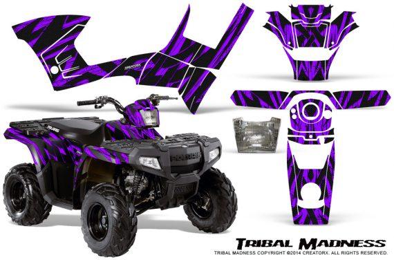 Polaris Sportsman 90 CreatorX Graphics Kit Tribal Madness Purple 570x376 - Polaris Sportsman 90 110 2007-2016 Graphics