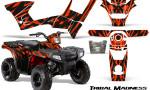 Polaris Sportsman 90 CreatorX Graphics Kit Tribal Madness Red 150x90 - Polaris Sportsman 90 110 2007-2016 Graphics