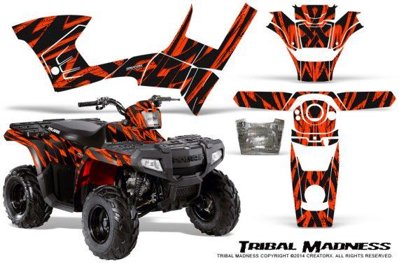 Polaris Sportsman 90 CreatorX Graphics Kit Tribal Madness Red 570x376 - Polaris Sportsman 90 110 2007-2016 Graphics