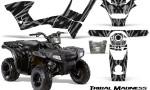 Polaris Sportsman 90 CreatorX Graphics Kit Tribal Madness Silver 150x90 - Polaris Sportsman 90 110 2007-2016 Graphics
