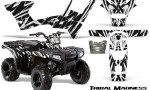 Polaris Sportsman 90 CreatorX Graphics Kit Tribal Madness White 150x90 - Polaris Sportsman 90 110 2007-2016 Graphics