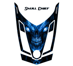 Ski-Doo-Rev-XR-CreatorX-Hood-Graphics-Kit-Skull-Chief-Blue