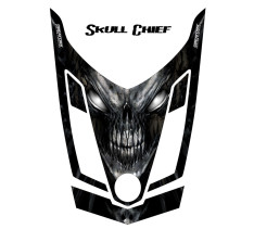 Ski-Doo-Rev-XR-CreatorX-Hood-Graphics-Kit-Skull-Chief-Silver