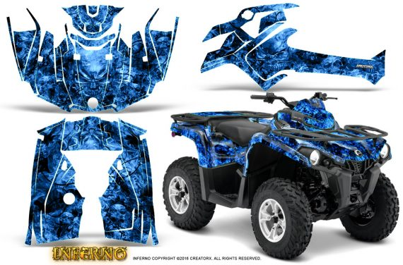 Can Am Outlander L 2014 2016 CreatorX Graphics Kit Inferno Blue 570x376 - Can-Am Outlander 2014-2019 450 570 L Max-L DPS Graphics