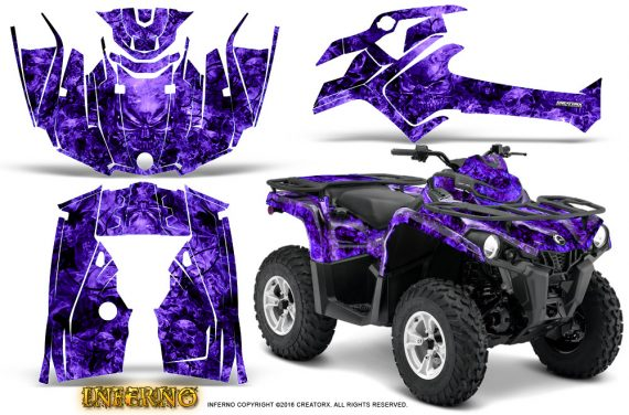 Can Am Outlander L 2014 2016 CreatorX Graphics Kit Inferno Purple 570x376 - Can-Am Outlander 2014-2019 450 570 L Max-L DPS Graphics