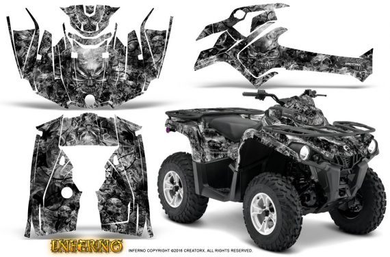 Can Am Outlander L 2014 2016 CreatorX Graphics Kit Inferno Silver 570x376 - Can-Am Outlander 2014-2019 450 570 L Max-L DPS Graphics