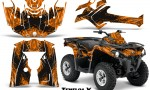 Can Am Outlander L 2014 2016 CreatorX Graphics Kit TribalX Black Orange 150x90 - Can-Am Outlander 2014-2019 450 570 L Max-L DPS Graphics