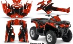 Can Am Outlander L 2014 2016 CreatorX Graphics Kit TribalX Black Red 150x90 - Can-Am Outlander 2014-2019 450 570 L Max-L DPS Graphics