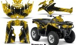 Can Am Outlander L 2014 2016 CreatorX Graphics Kit TribalX Black Yellow 150x90 - Can-Am Outlander 2014-2019 450 570 L Max-L DPS Graphics