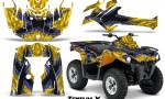 Can Am Outlander L 2014 2016 CreatorX Graphics Kit TribalX Blue Yellow 150x90 - Can-Am Outlander 2014-2019 450 570 L Max-L DPS Graphics
