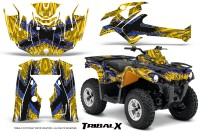 Can-Am-Outlander-L-2014-2016-CreatorX-Graphics-Kit-TribalX-Blue-Yellow