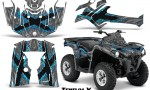 Can Am Outlander L 2014 2016 CreatorX Graphics Kit TribalX BlueIce Silver 150x90 - Can-Am Outlander 2014-2019 450 570 L Max-L DPS Graphics