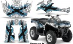 Can Am Outlander L 2014 2016 CreatorX Graphics Kit TribalX BlueIce White 150x90 - Can-Am Outlander 2014-2019 450 570 L Max-L DPS Graphics