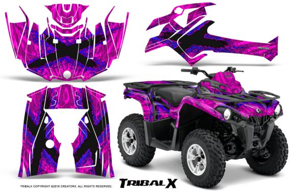 Can Am Outlander L 2014 2016 CreatorX Graphics Kit TribalX Blue Pink 570x376 - Can-Am Outlander 2014-2019 450 570 L Max-L DPS Graphics