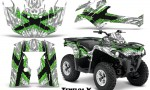 Can Am Outlander L 2014 2016 CreatorX Graphics Kit TribalX Green White 150x90 - Can-Am Outlander 2014-2019 450 570 L Max-L DPS Graphics