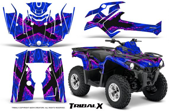 Can Am Outlander L 2014 2016 CreatorX Graphics Kit TribalX Pink Blue 570x376 - Can-Am Outlander 2014-2019 450 570 L Max-L DPS Graphics