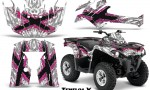 Can Am Outlander L 2014 2016 CreatorX Graphics Kit TribalX Pink White 150x90 - Can-Am Outlander 2014-2019 450 570 L Max-L DPS Graphics