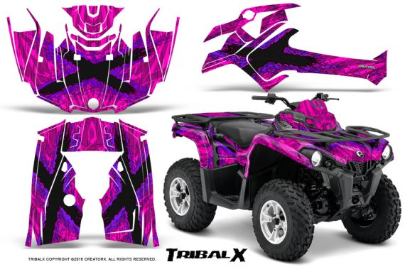 Can Am Outlander L 2014 2016 CreatorX Graphics Kit TribalX Purple Pink 570x376 - Can-Am Outlander 2014-2019 450 570 L Max-L DPS Graphics
