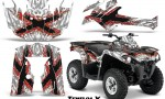 Can Am Outlander L 2014 2016 CreatorX Graphics Kit TribalX Red White 150x90 - Can-Am Outlander 2014-2019 450 570 L Max-L DPS Graphics