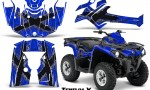 Can Am Outlander L 2014 2016 CreatorX Graphics Kit TribalX Silver Blue 150x90 - Can-Am Outlander 2014-2019 450 570 L Max-L DPS Graphics