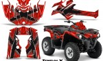 Can Am Outlander L 2014 2016 CreatorX Graphics Kit TribalX Silver Red 150x90 - Can-Am Outlander 2014-2019 450 570 L Max-L DPS Graphics