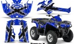 Can Am Outlander L 2014 2016 CreatorX Graphics Kit TribalX White Blue 150x90 - Can-Am Outlander 2014-2019 450 570 L Max-L DPS Graphics