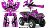 Can Am Outlander L 2014 2016 CreatorX Graphics Kit TribalX White Pink 150x90 - Can-Am Outlander 2014-2019 450 570 L Max-L DPS Graphics
