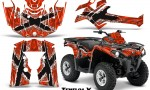 Can Am Outlander L 2014 2016 CreatorX Graphics Kit TribalX White Red 150x90 - Can-Am Outlander 2014-2019 450 570 L Max-L DPS Graphics