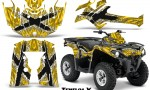 Can Am Outlander L 2014 2016 CreatorX Graphics Kit TribalX White Yellow 150x90 - Can-Am Outlander 2014-2019 450 570 L Max-L DPS Graphics