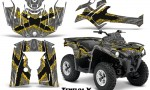Can Am Outlander L 2014 2016 CreatorX Graphics Kit TribalX Yellow Silver 150x90 - Can-Am Outlander 2014-2019 450 570 L Max-L DPS Graphics