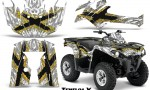 Can Am Outlander L 2014 2016 CreatorX Graphics Kit TribalX Yellow White 150x90 - Can-Am Outlander 2014-2019 450 570 L Max-L DPS Graphics
