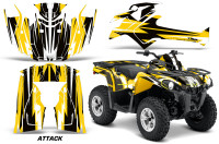Canam-Outlander-L-2014-2015-Graphic-Kit-Wrap-Attack-Yellow