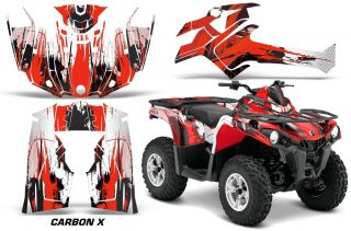 Canam Outlander L 2014 2015 Graphic Kit Wrap Carbon X Red 320x211 - Can-Am Outlander 2014-2020 450 570 L Max-L DPS Graphics