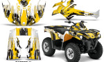 Canam Outlander L 2014 2015 Graphic Kit Wrap Carbon X Yellow 150x90 - Can-Am Outlander 2014-2019 450 570 L Max-L DPS Graphics