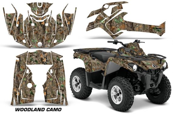 Canam Outlander L 2014 2015 Graphic Kit Wrap Woodland Camo 570x376 - Can-Am Outlander 2014-2019 450 570 L Max-L DPS Graphics