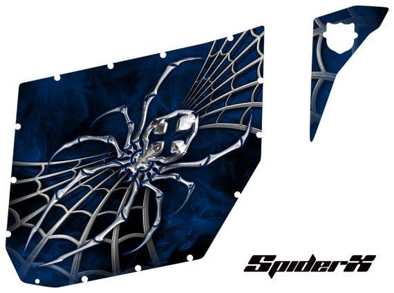 Can Am Maverick Pro Armor Graphics SpiderX Blue th 570x424 - Can-Am Maverick CreatorX 2 Door Graphics