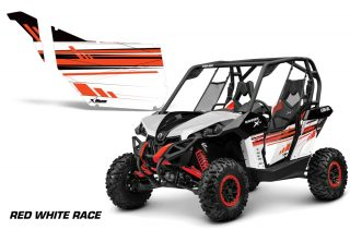 Maverick OEM 2013 Door Red White Race 2537 102220 1010 320x211 - Can-Am Maverick 2 Door Graphics