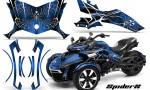 Can Am Spyder F3 CreatorX Graphics Kit SpiderX Blue 150x90 - Can-Am Spyder F3 Graphics