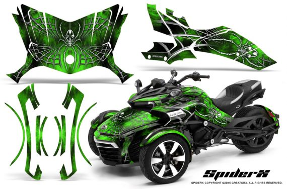Can-Am-Spyder-F3-CreatorX-Graphics-Kit-SpiderX-Green