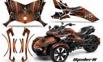 Can Am Spyder F3 CreatorX Graphics Kit SpiderX OrangeDark 150x90 - Can-Am Spyder F3 Graphics